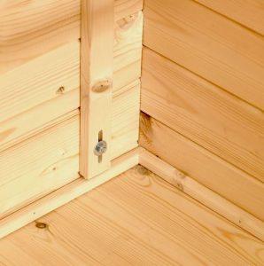 3x3 Waltons Corner Log Cabin Flooring and Material