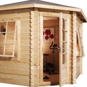 3x3 Waltons Corner Log Cabin Unpainted
