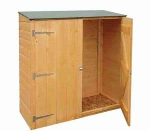 4' x 2' Shire Wooden Garden Storage Unit Side View