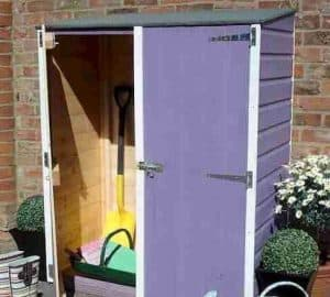 4' x 2' Shire Wooden Garden Storage Unit Violet Color