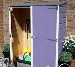 4' x 2' Shire Wooden Garden Storage Unit Violet Color