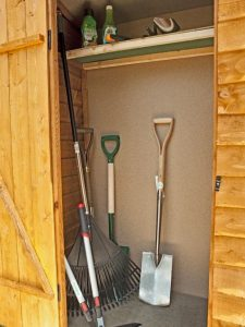 4' x 2' Store-Plus Overlap Garden Tool Storage Inside View