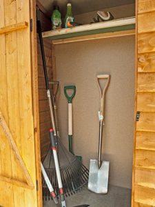4' x 2' Store-Plus Overlap Garden Tool Storage Inside View