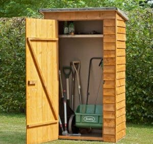 4' x 2' Store-Plus Overlap Garden Tool Storage Open Door