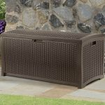 4' x 2' Suncast Resin Wicker Deck Box