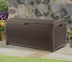 4' x 2' Suncast Resin Wicker Deck Box