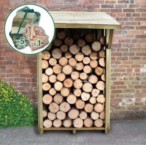 4' x 3' Easy Access Sherwood Log Store Front View