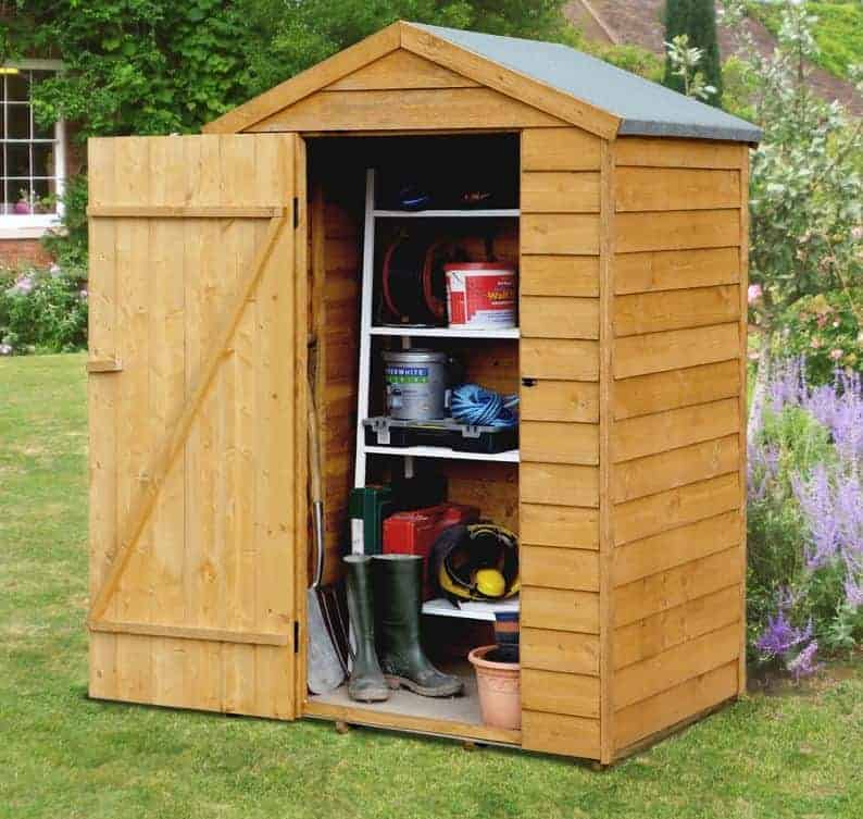 4' x 3' Shed-Plus Overlap Secure Shed