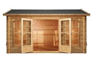 4 x 3 Waltons Home Office Director Log Cabin Front