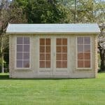 4 x 3 Waltons Home Office Director Log Cabin Front View