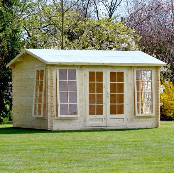 home office cabins. 4 x 3 waltons home office director log cabin overall view cabins