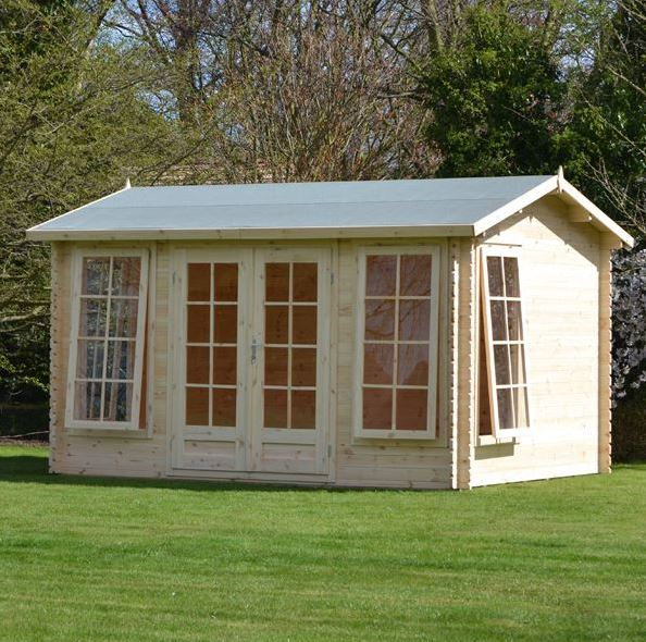 4 x 3 Waltons Home Office Director Log Cabin What Shed