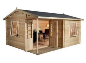 4 x 3 Waltons Home Office Executive Log Cabin