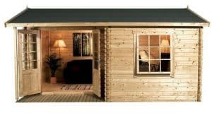 4 x 3 Waltons Home Office Executive Log Cabin Front