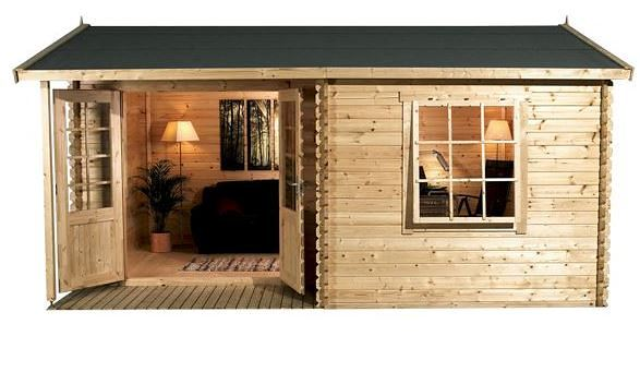 home office cabins. 4 x 3 waltons home office executive log cabin front cabins