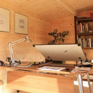 4 x 3 Waltons Home Office Executive Log Cabin Inside View