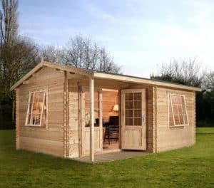 4 x 3 Waltons Home Office Executive Log Cabin Overall View