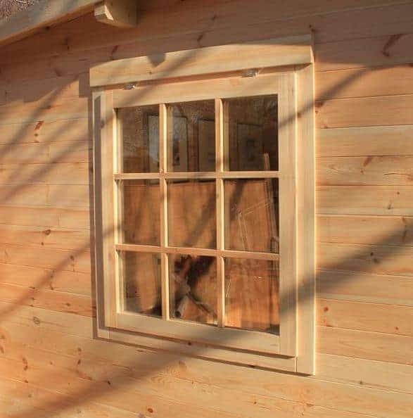 4 x 3 waltons home office executive log cabin what shed for Log cabin window