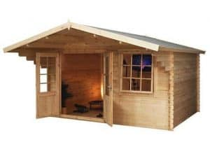 4 x 3 Waltons Retreat Traditional Log Cabin