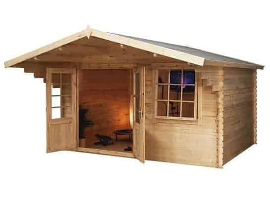 4 x 3 Waltons Retreat Traditional Log Cabin
