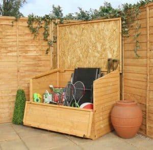 4 x 3 Waltons Shiplap+ Wooden Garden Storage Chest