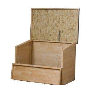 4' x 3' Windsor Wooden Garden Storage Chest Empty