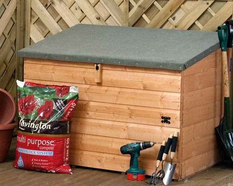 3 Windsor Wooden Garden Storage Chest, Wooden Garden Storage Box Uk