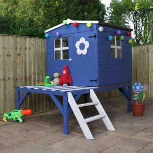 4 x 4 Waltons Honeypot Bluebell Wooden Tower Playhouse Closed Door