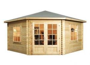 4 x 4 Waltons Lodge Corner Log Cabin