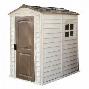 4' x 5'5 Duramax Woodside Plastic Shed Closed Door