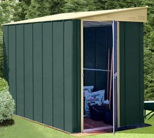 4' x 6' Shed Baron Grandale Lean To Metal Shed