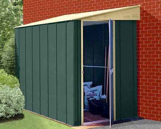 4 x 8 StoreMore Canberra Eight Pent Lean-To Metal Shed