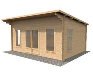 4.2 x 5.4 Waltons Contemporary Home Office Log Cabin
