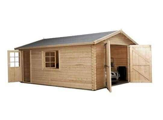 4.2 x 5.7 Waltons Log Cabin Garage