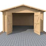 4.2 x 5.7m Waltons Garage Log Cabin