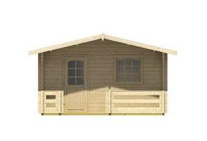 4.20 x 5.40 Elba 44 Log Cabin Front