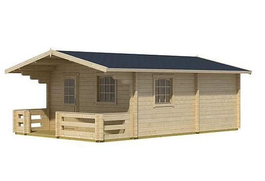 4.20 x 5.40 Elba 44 Log Cabin