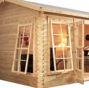 4.5 x 3.5 Waltons Home Office Director Log Cabin