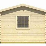 4.50 x 3.00 Bora Log Cabin Front View