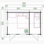4.50 x 3.00 Bora Log Cabin Overall Dimensions