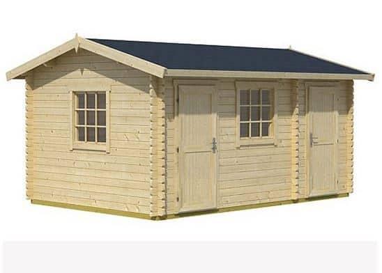 4.50 x 3.00 Bora Log Cabin