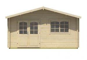4.80m x 3.90m Spiekeroog 2 Log Cabin Front