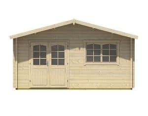 4.80m x 4.80m Spiekeroog 3 Log Cabin Front