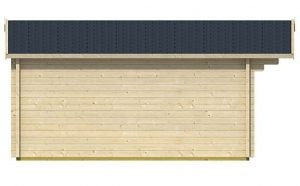 4.80m x 4.80m Spiekeroog 3 Log Cabin Left Side