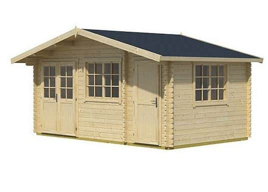 4.85 x 3.00 Borkum 4 Log Cabin