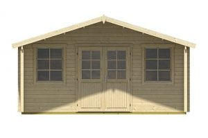 4.85 x 3.90 Helgoland Log Cabin Front View