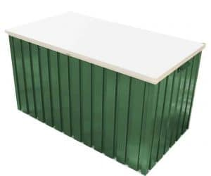 4'4 x 2'4 Store More Emerald 1.3 Green Metal Storage Box