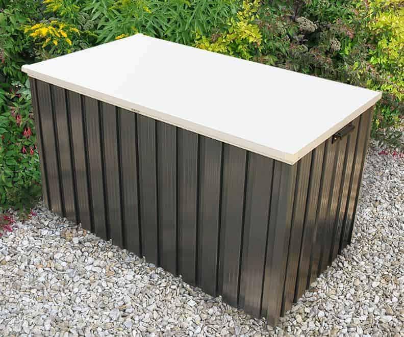 4'4 x 2'4 Store More Emerald 1.3 Grey Metal Storage Box