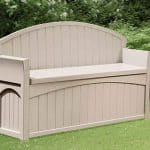 4'5 x 1'9 Suncast Resin Patio Storage Bench