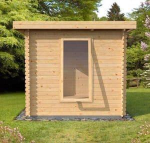 4x2.5 Waltons Zen 1 Log Cabin Back View